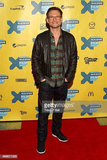 Actor Christian Slater attends the premiere of Mr Robot during the 2015 SXSW Music Film Interactive Festival at Austin Convention Center on March 17...