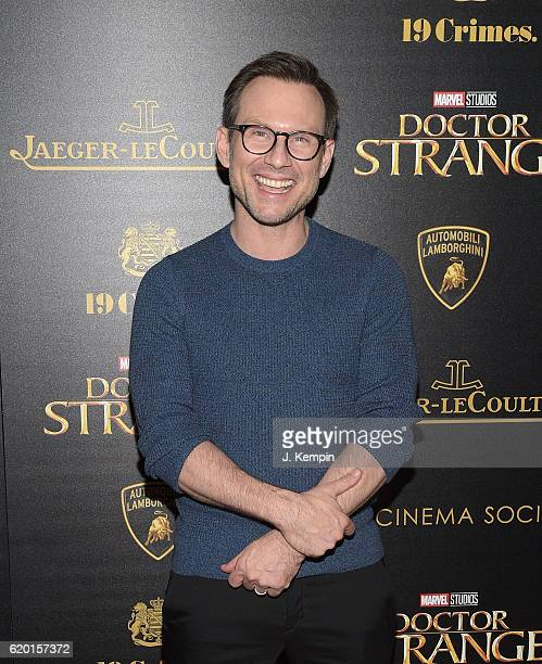 """Actor Christian Slater attends the Screening of Marvel Studios' """"Doctor Strange"""" hosted by Lamborghini with the Cinema Society, Jaeger-LeCoultre and..."""