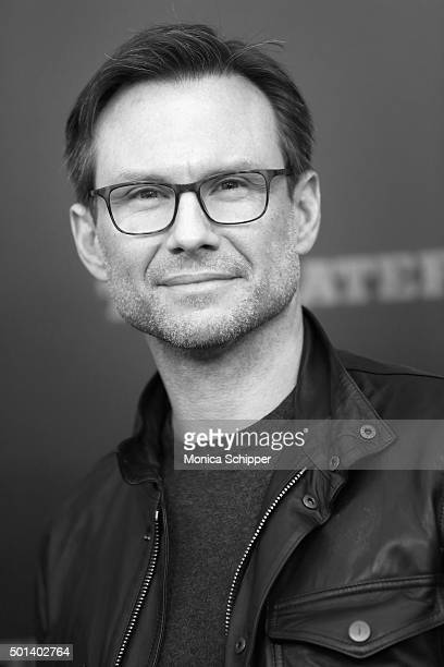 Actor Christian Slater attends the The New York Premiere Of 'The Hateful Eight' on December 14 2015 in New York City