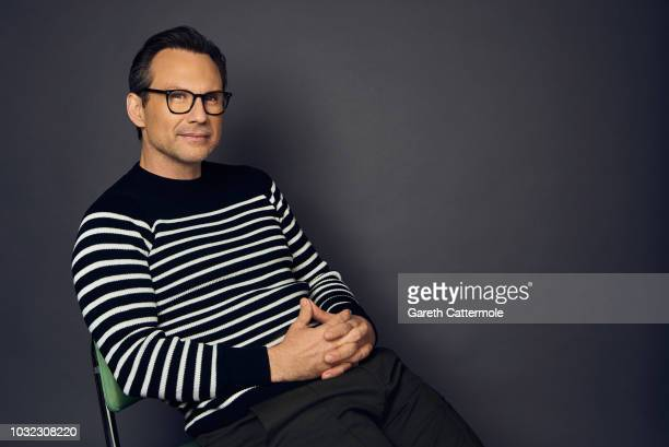 Actor Christian Slater from the film 'The Public' poses for a portrait during the 2018 Toronto International Film Festival at Intercontinental Hotel...