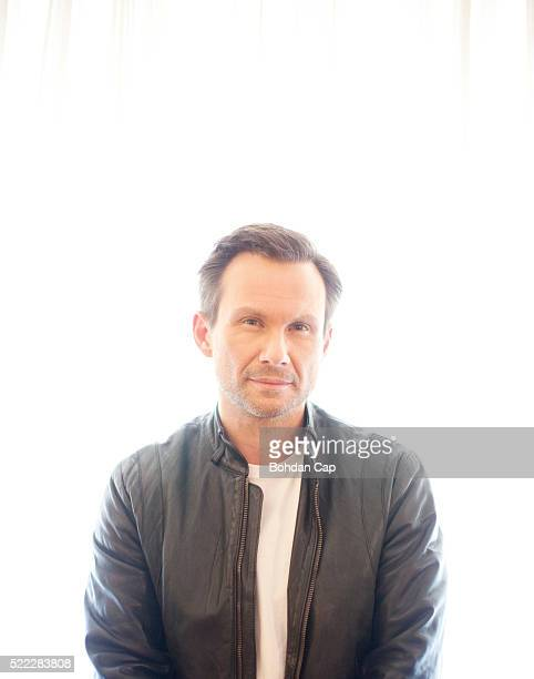 Actor Christian Slater is photographed for the Guardian on September 30 2015 in London England