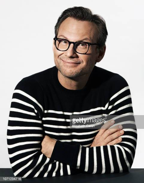Actor Christian Slater is photographed for The Wrap on September 9 2018 at the Toronto International Film Festival in Toronto Ontario