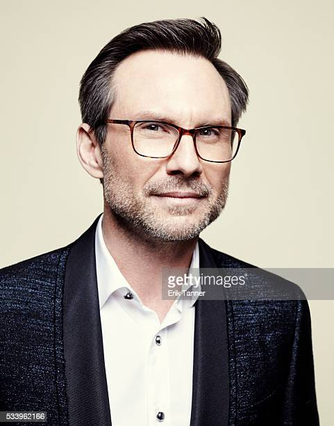 Actor Christian Slater poses for a portrait at the 75th Annual Peabody Awards Ceremony at Cipriani Wall Street on May 21 2016 in New York City
