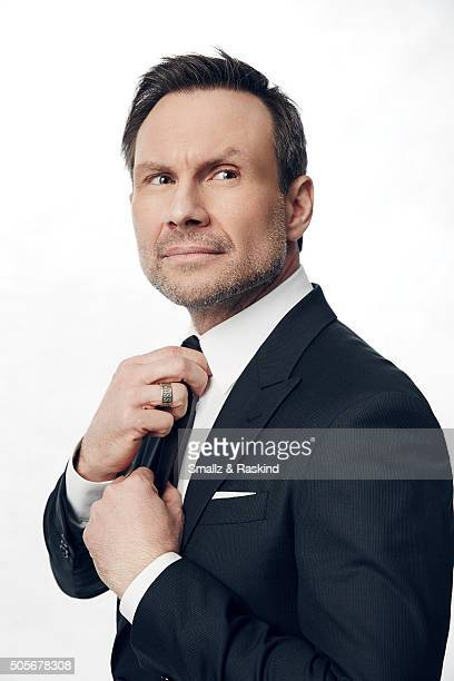 Actor Christian Slater poses for a portrait during the 21st Annual Critics' Choice Awards at Barker Hangar on January 17 2016 in Santa Monica...