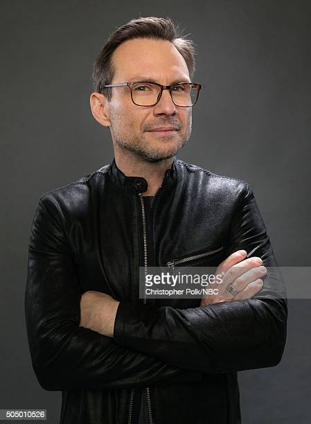 Actor Christian Slater poses for a portrait during the NBCUniversal Press Day at The Langham Huntington Pasadena on January 14 2016 in Pasadena...