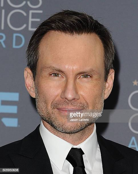 Actor Christian Slater poses in the press room at the 21st annual Critics' Choice Awards at Barker Hangar on January 17 2016 in Santa Monica...