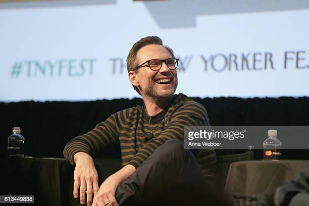 Actor Christian Slater speaks onstage during The New Yorker Festival 2016 at MasterCard Stage at SVA Theatre on October 8, 2016 in New York City.