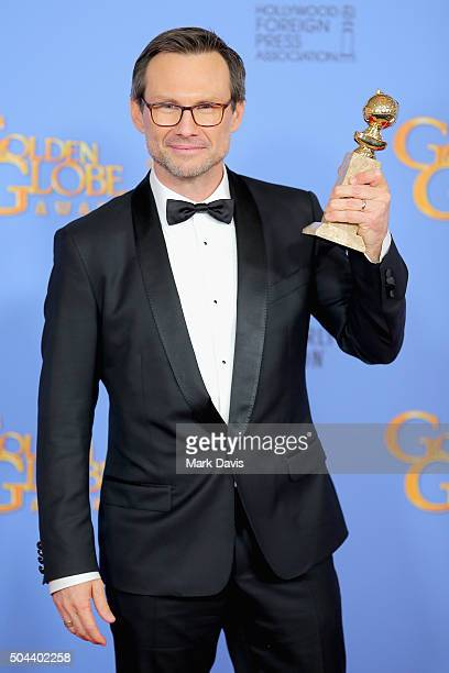 Actor Christian Slater winner of Best Performance by an Actor in a Supporting Role in a Series Limited Series or Motion Picture Made for Television...