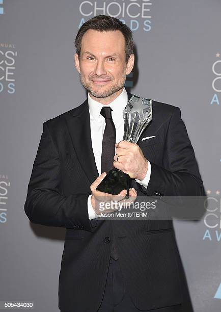Actor Christian Slater winner of Best Supporting Actor in a Drama Series for 'Mr Robot' poses in the press room during the 21st Annual Critics'...