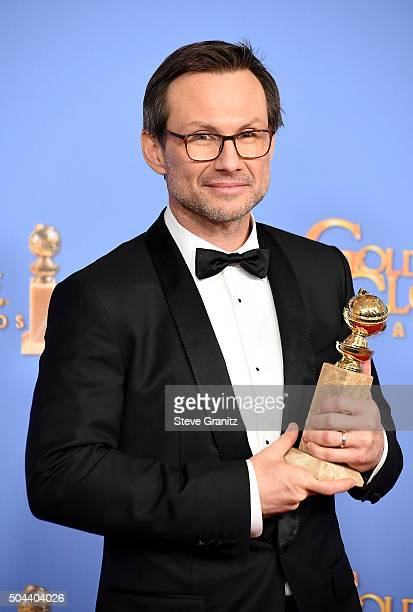 Actor Christian Slater, winner of the award for Best Performance by an Actor in a Supporting Role in a Series, Limited Series or Motion Picture Made...