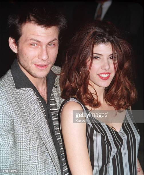 Actor Christian Slater with actress Marisa Tomei 1993