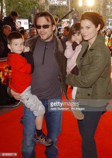Actor Christian Slater with his wife Ryan and son Jaden and daughter Eliana arrive for the premiere of the Disney/Pixar animation film The...