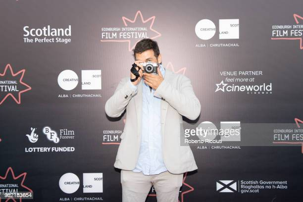 Actor Christian Solimeno attends a photocall for the World Premiere of 'Lucid' during the 72nd Edinburgh International Film Festival at Cineworld on...