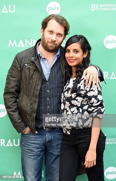 Actor Christian Ulmen and his wife Collien UlmenFernandes attend 'Mann/Frau' Web Series Season 2 Kick Off Event at Die Registratur on September 8...