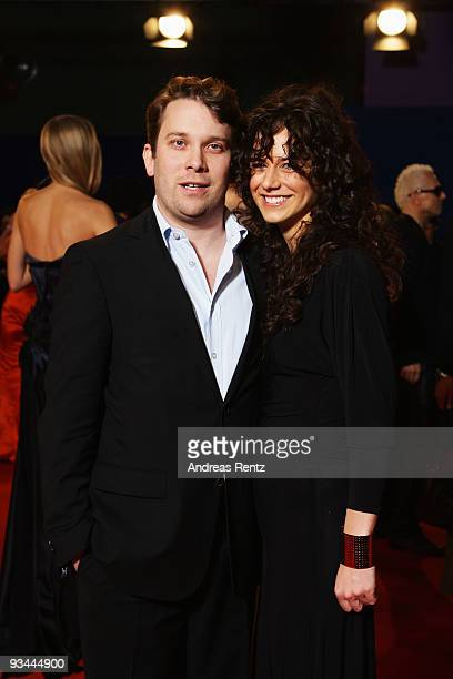 Actor Christian Ulmen and Huberta Ulmen arrive to the Bambi Awards 2009 at the Metropolis Hall at the Filmpark Babelsberg on November 26, 2009 in...