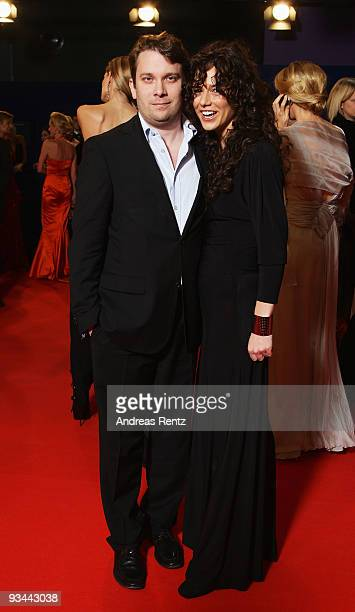 Actor Christian Ulmen and wife Huberta arrive to the Bambi Awards 2009 at the Metropolis Hall at the Filmpark Babelsberg on November 26, 2009 in...
