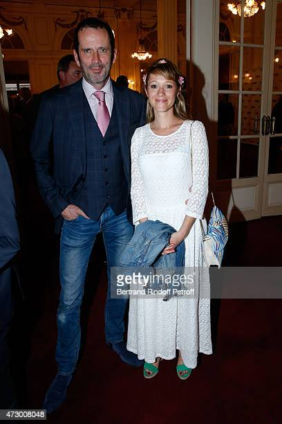 Actor Christian Vadim and his wife Julia attend the 'Open Space' Theater Play at Theatre de Paris on May 11 2015 in Paris France
