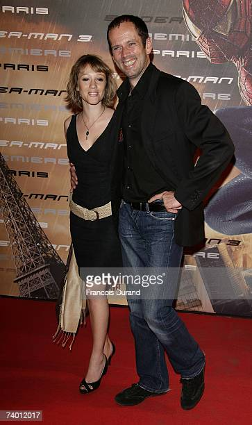 Actor Christian Vadim and Julia Livage arrive to attend the ''SpiderMan 3'' premiere on April 27 2007 in ParisFrance