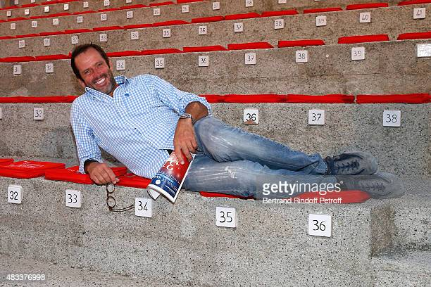 Actor Christian Vadim attends the 'La Venus a la Fourrure' Theater play during the 31th Ramatuelle Festival Day 7 on August 7 2015 in Ramatuelle...