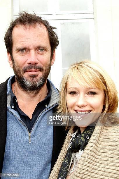 Actor Christian Vadim et sa femme Julia Livage Photographed in PARIS