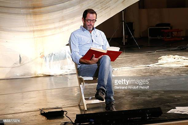 Actor Christian Vadim presents the 'La Venus a la Fourrure' Theater play during the 31th Ramatuelle Festival Day 7 on August 7 2015 in Ramatuelle...