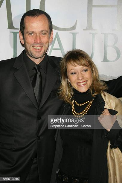Actor Christian Vadim with Julia Livage attend the premiere of Michou d'Auber in Paris