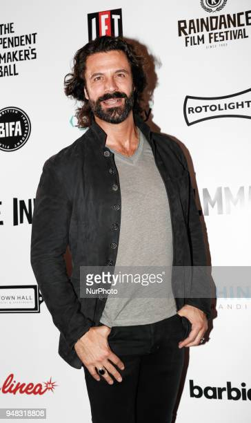 Actor Christian Vit is arriving to The Raindance Independent Filmmakers Ball in Café de Paris in London United Kingdom April 18 2018
