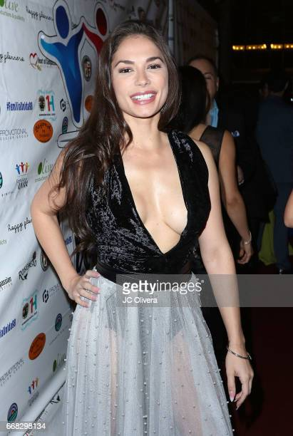 Actor Christiana Leucas attends The Familia Unida's 4th annual fundraising dinner gala at Millennium Biltmore Hotel on April 13 2017 in Los Angeles...