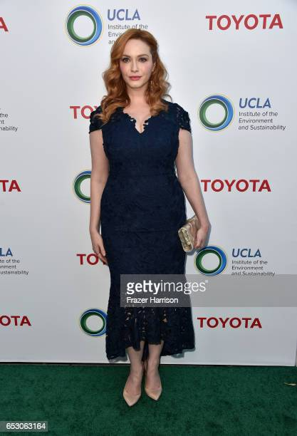 Actor Christina Hendricks at UCLA Institute of the Environment and Sustainability celebrates Innovators For A Healthy Planet at a private residence...