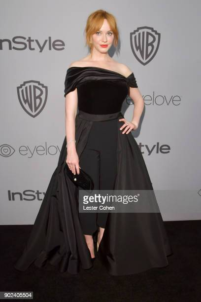 Actor Christina Hendricks attends 19th Annual PostGolden Globes Party hosted by Warner Bros Pictures and InStyle at The Beverly Hilton Hotel on...
