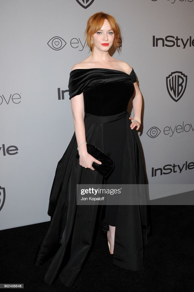 Actor Christina Hendricks attends 19th Annual Post-Golden Globes Party hosted by Warner Bros. Pictures and InStyle at The Beverly Hilton Hotel on January 7, 2018 in Beverly Hills, California.