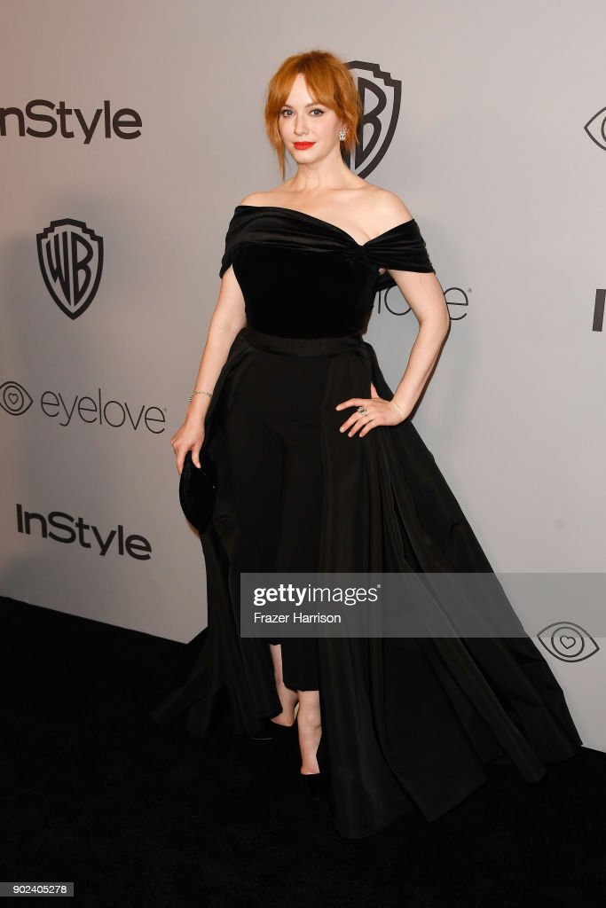 Actor Christina Hendricks attends the 19th Annual Post-Golden Globes Party hosted by Warner Bros. Pictures and InStyle at The Beverly Hilton Hotel on January 7, 2018 in Beverly Hills, California.
