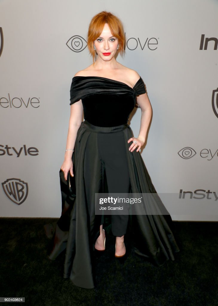 Actor Christina Hendricks attends the 2018 InStyle and Warner Bros. 75th Annual Golden Globe Awards Post-Party at The Beverly Hilton Hotel on January 7, 2018 in Beverly Hills, California.