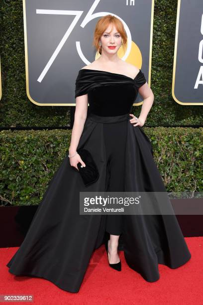 Actor Christina Hendricks attends The 75th Annual Golden Globe Awards at The Beverly Hilton Hotel on January 7 2018 in Beverly Hills California