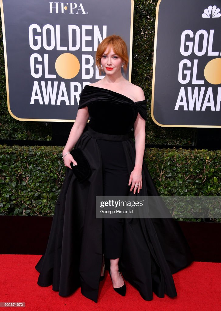 Actor Christina Hendricks attends The 75th Annual Golden Globe Awards at The Beverly Hilton Hotel on January 7, 2018 in Beverly Hills, California.