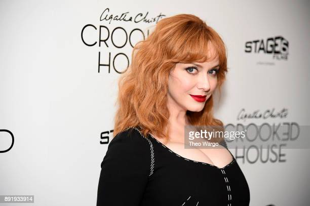 Actor Christina Hendricks attends the Crooked House New York Premiere at Metrograph on December 13 2017 in New York City