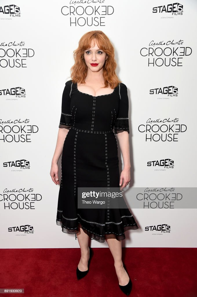 Actor Christina Hendricks attends the 'Crooked House' New York Premiere at Metrograph on December 13, 2017 in New York City.