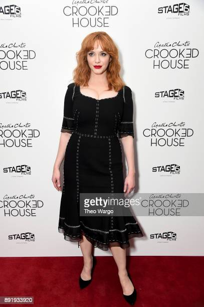 Actor Christina Hendricks attends the 'Crooked House' New York Premiere at Metrograph on December 13 2017 in New York City