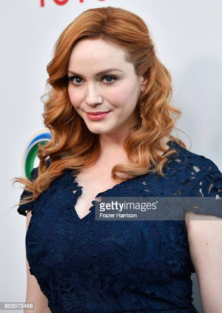 Actor Christina Hendricks attends UCLA Institute of the Environment and Sustainability celebrates Innovators For A Healthy Planet at a private...