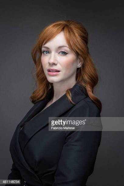 Actor Christina Hendricks is photographed in Cannes France