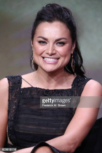 Actor Christina Ochoa of 'Valor' speaks onstage during the CW portion of the 2017 Summer Television Critics Association Press Tour at The Beverly...