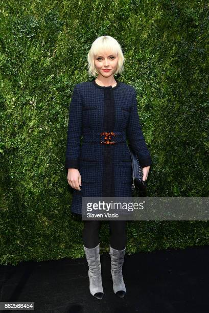 Actor Christina Ricci attends Through Her Lens The Tribeca Chanel Women's Filmmaker Program Luncheon at Locanda Verde on October 17 2017 in New York...