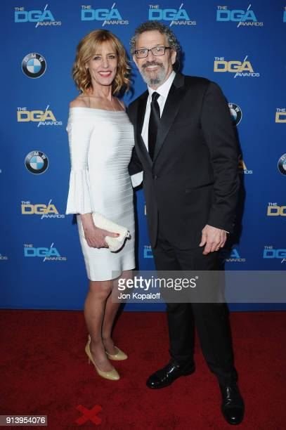 Actor Christine Lahti and DGA President Thomas Schlamme attend the 70th Annual Directors Guild Of America Awards at The Beverly Hilton Hotel on...