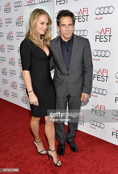 Actor Christine Taylor and actor/director Ben Stiller attend the premiere of The Secret Life of Walter Mitty during AFI FEST 2013 presented by Audi...