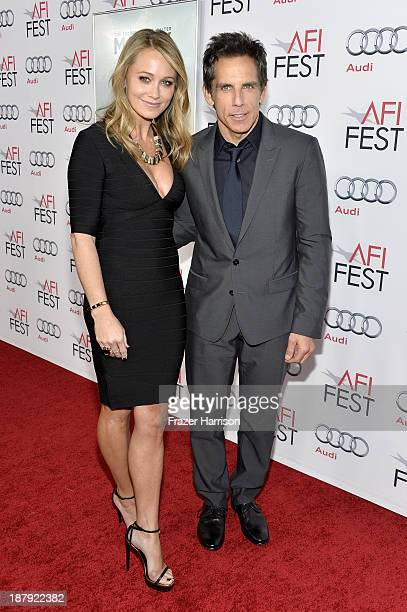 Actor Christine Taylor and actor/director Ben Stiller attend the premiere of 'The Secret Life of Walter Mitty' during AFI FEST 2013 presented by Audi...