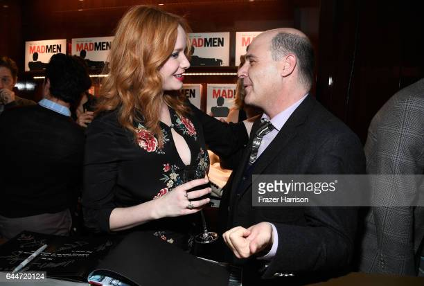 Actor Christinna Hendricks and creator/writer Matthew Weiner attend the launch for Matthew Weiner's Book Mad Men at TASCHEN Store Beverly Hills on...