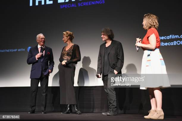 Actor Christiopher Plummer actress Janet McTeer director David Leveaux and moderator Cara Cusumano speak onstage during a panel discussion as ATT...