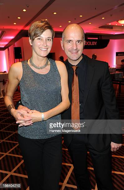 Actor Christoph Maria Herbst and his girlfriend Gisi attend the Video Entertainment Award 2012 at the Westin Grand Hotel on November 14 2012 in...