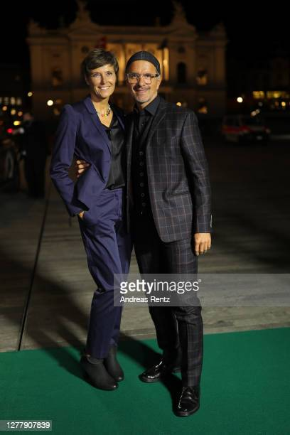 "Actor Christoph Maria Herbst with his wife Gisi Herbst attend the ""Contra"" premiere during the 16th Zurich Film Festival at Kino Corso on October 01,..."