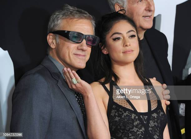 Actor Christoph Waltz and actress Rosa Salazar arrive for the Premiere Of 20th Century Fox's Alita Battle Angel held at Westwood Regency Theater on...